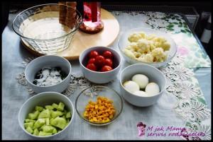 letnia sałatka sałatka dla dzieci