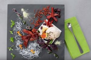 Przepis na lody deserowe z kiełbasy myśliwskiej z szynki