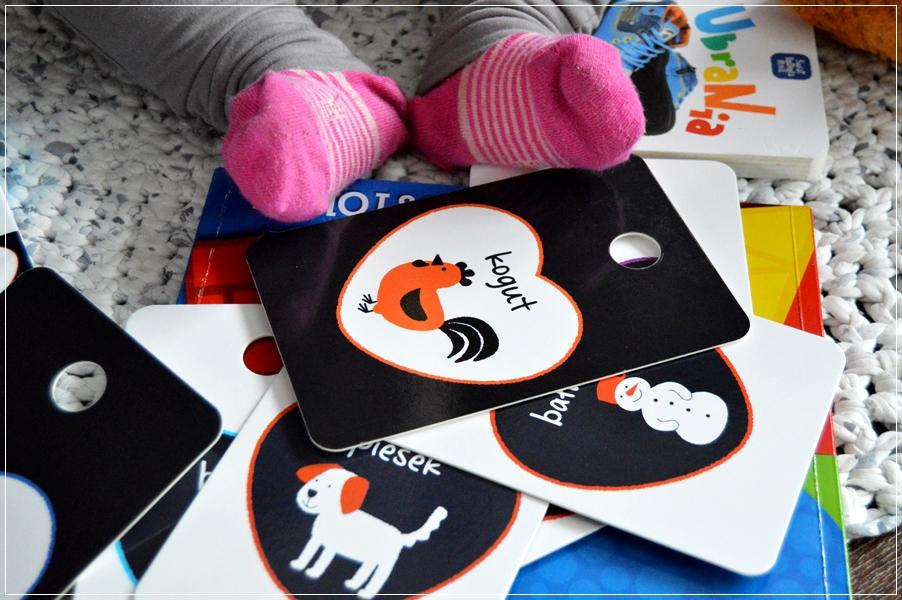 Karty kontrastowe dla maluchów na prezent na roczek